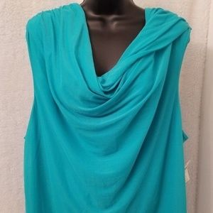 Coldwater Creek NWT Green Grecian Drape Top